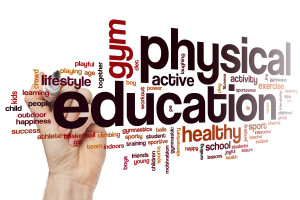 Physical education word cloud concept